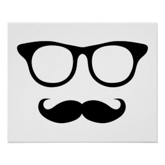 Homme ringard de moustache posters