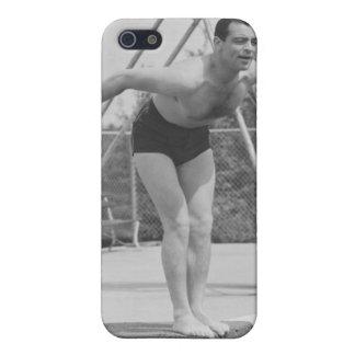 Homme sur le conseil de plongée iPhone 5 case