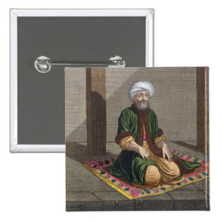Homme turc, priant, XVIIIème siècle (gravure) Badge