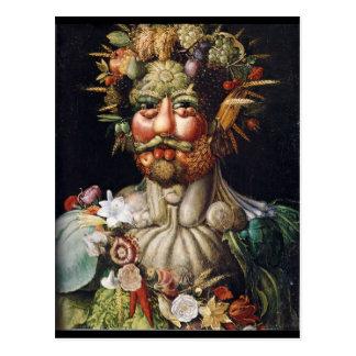 Homme végétal de Giuseppe Arcimboldo (Vertumnus) Carte Postale