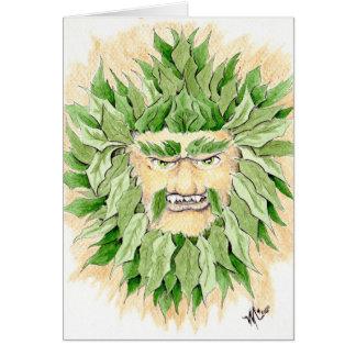 Homme vert celtique carte de vœux