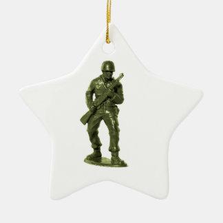 Homme vert d'armée décoration pour sapin de noël