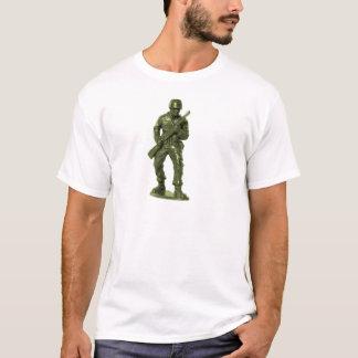 Homme vert d'armée t-shirt