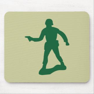 Homme vert d'armée tapis de souris