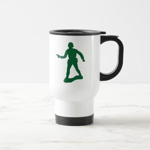 Homme vert d'armée tasse à café