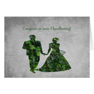 Homme vert et Madame verte Handfasting Blessings Carte De Vœux