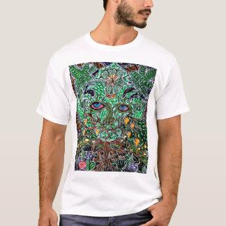 homme vert psychédélique t-shirt