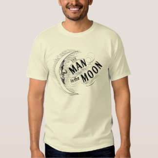 Homme vintage dans la lune t-shirt