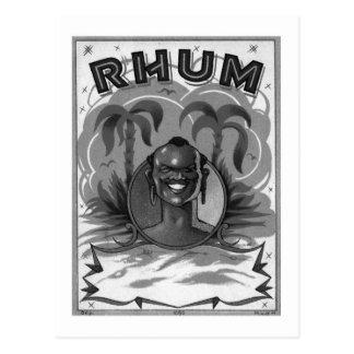 Homme vintage de rhum de Rhum de kitsch Cartes Postales