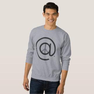 Hommes au sweatshirt de base de paix