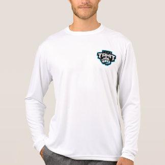 Hommes blancs bilatéraux de T-shirt de douilles de