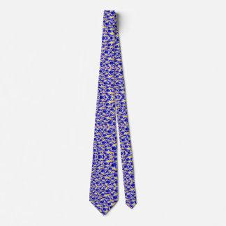 Hommes bleus et cravate jaune de motif de fractale