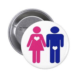 Hommes CONTRE des boutons d'amusement de nouveauté Badge Rond 5 Cm