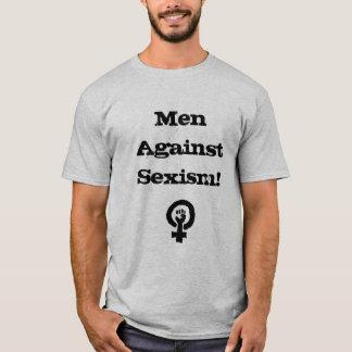 Hommes contre la chemise de sexisme t-shirt