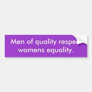 Hommes de l'égalité des femmes de respect de quali autocollant pour voiture