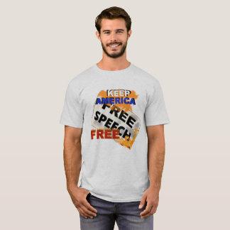 Hommes de pièce en t de liberté de parole t-shirt