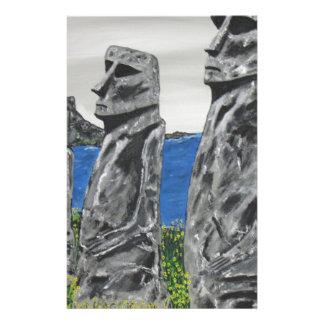 Hommes de pierre d'île de Pâques Papeterie
