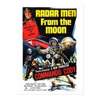 """Hommes de radar carte postale de lune"""