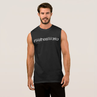 Hommes de réservoir de guerrier de #Wellness noirs T-shirt Sans Manches