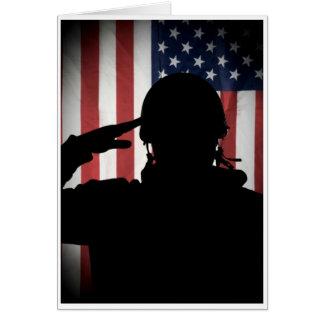 Hommes d'honneur - salut carte de vœux