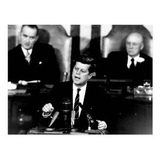 Hommes du Président John F. Kennedy au discours de Cartes Postales