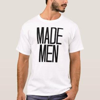 Hommes faits T-shirt dans le blanc