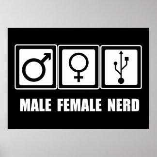 Hommes-femmes ou nerd poster