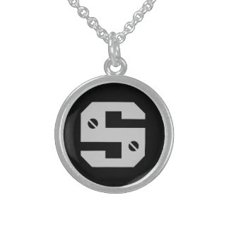 Hommes initiaux collier argent sterling