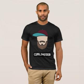 Hommes noirs de T-shirt de Curlingseb