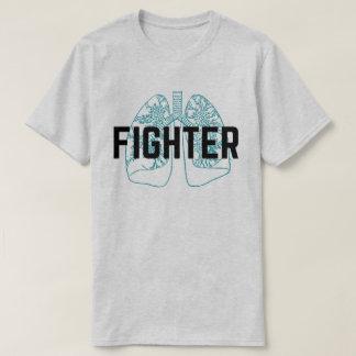 Hommes pulmonaires de combattant bleus t-shirt