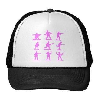 Hommes roses d'armée casquette