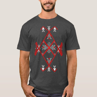 Hommes rouges de T-shirt de conception d'Amazigh