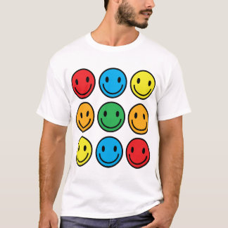 hommes souriants t-shirt