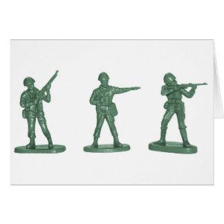Hommes verts d armée carte de vœux