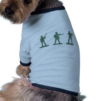 Hommes verts d armée tee-shirt pour animal domestique