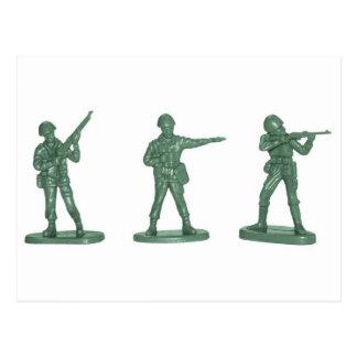Hommes verts d'armée carte postale