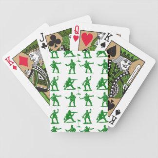 Hommes verts d'armée jeux de cartes poker