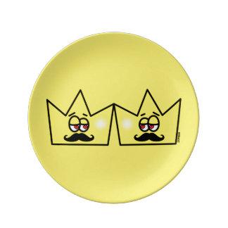 Homosexuels Roi Coroa King Crown Assiettes En Porcelaine