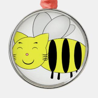 Honeycat Ornement Rond Argenté