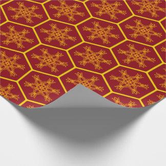 Honeycomb drawing pattern papiers cadeaux noël