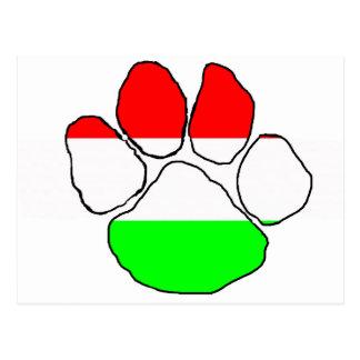Hongrie-Drapeau paw png Cartes Postales