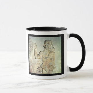 Honorable, soulagement, assyrien mug