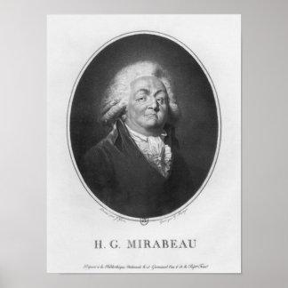 Honore Gabriel Riqueti, Comte de Mirabeau Posters
