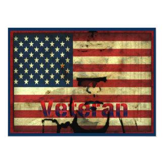 """Honorez le jour de vétérans 7,5"""" carte carton d'invitation  13,97 cm x 19,05 cm"""