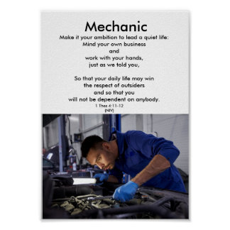 Honorez l'éducation de trades-MECHANIC-1-career Posters