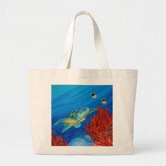Honu et corail noir grand sac