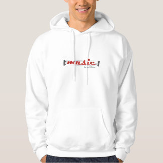 hoodie sweater MUSIC repeat till que Sweat À Capuche