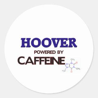 Hoover a actionné par la caféine autocollants ronds