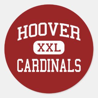 Hoover - cardinaux - haut - San Diego la Sticker Rond