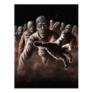 Horde de zombi carte postale